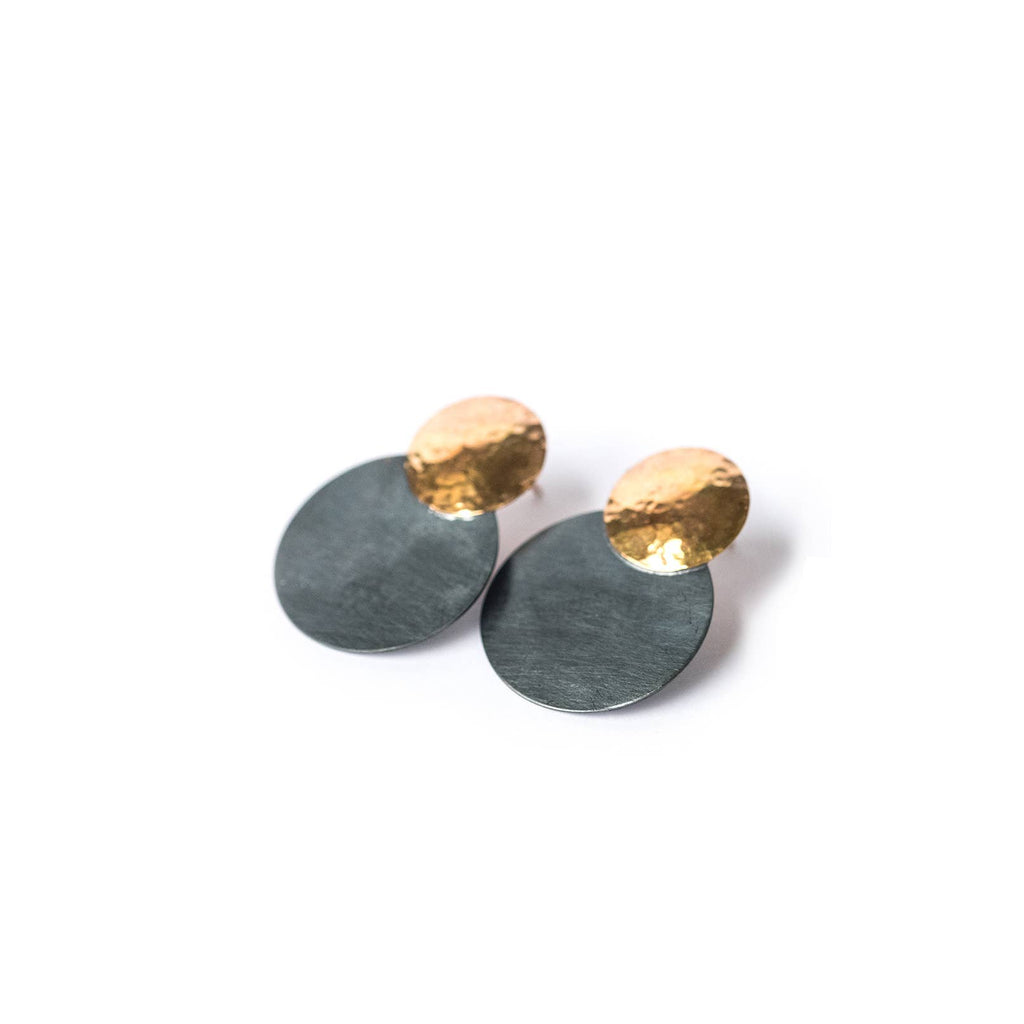 Adorn512 - Double Disc Earrings