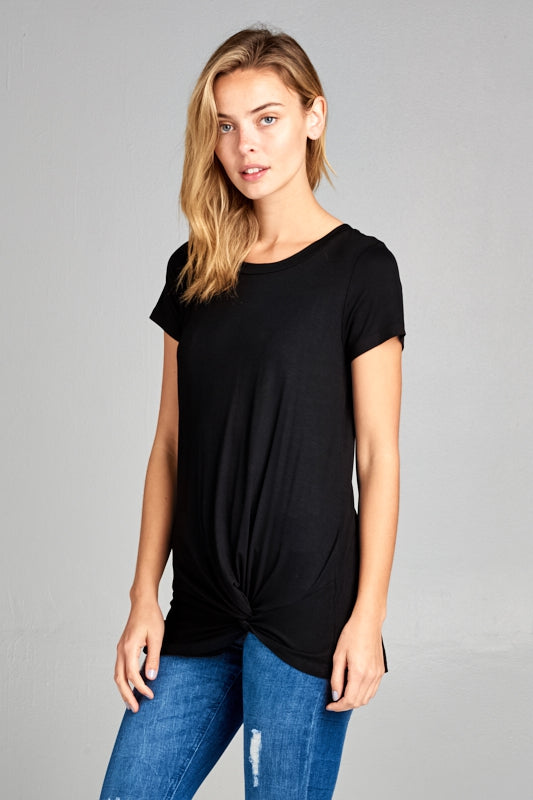 Short Sleeve Knot Front Tee