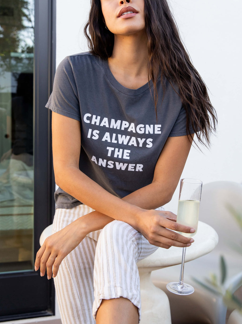 SUB_URBAN RIOT Champagne is Always the Answer Tee