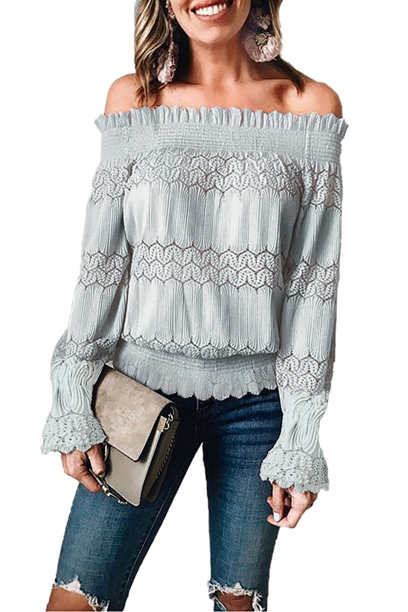 OFF THE SHOULDER FESTIVAL LACE TOP