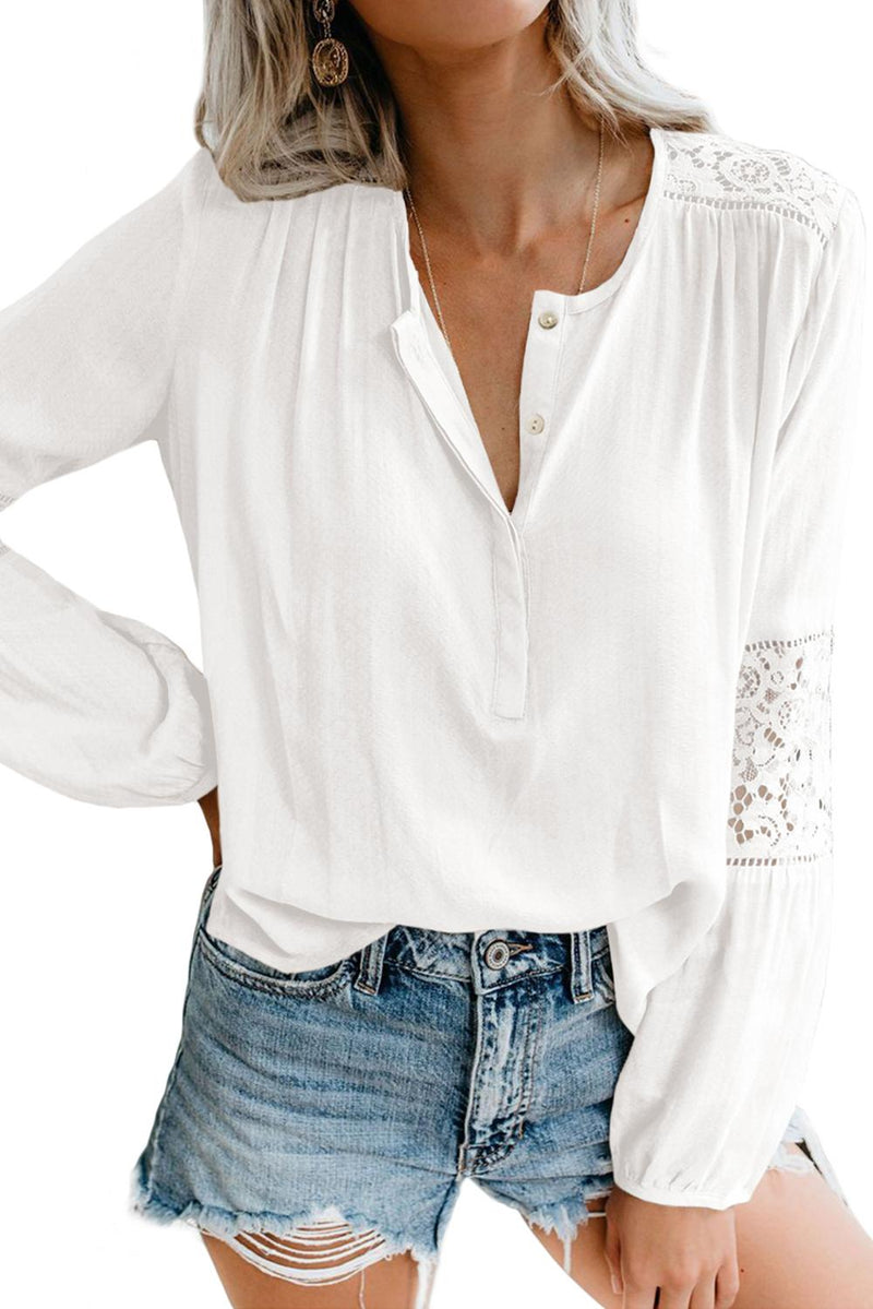 BoHo HI-Low Hemline Lace Blouse