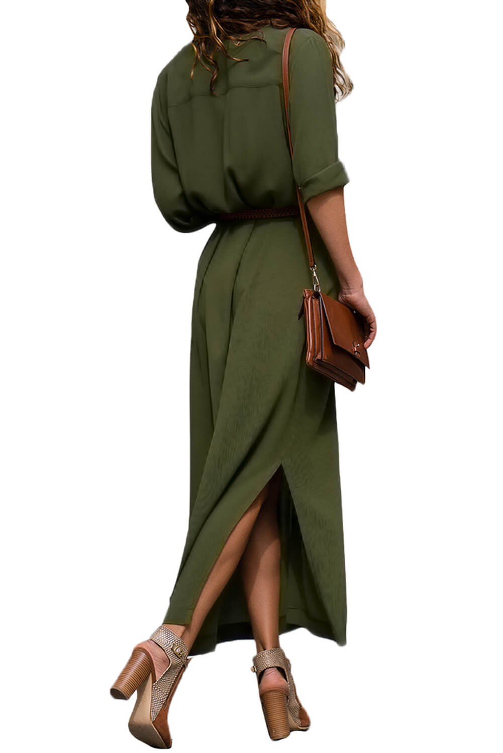 Maxi Shirt Dress with Side Slit