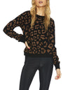 Black Leopard Print Long Cardigan