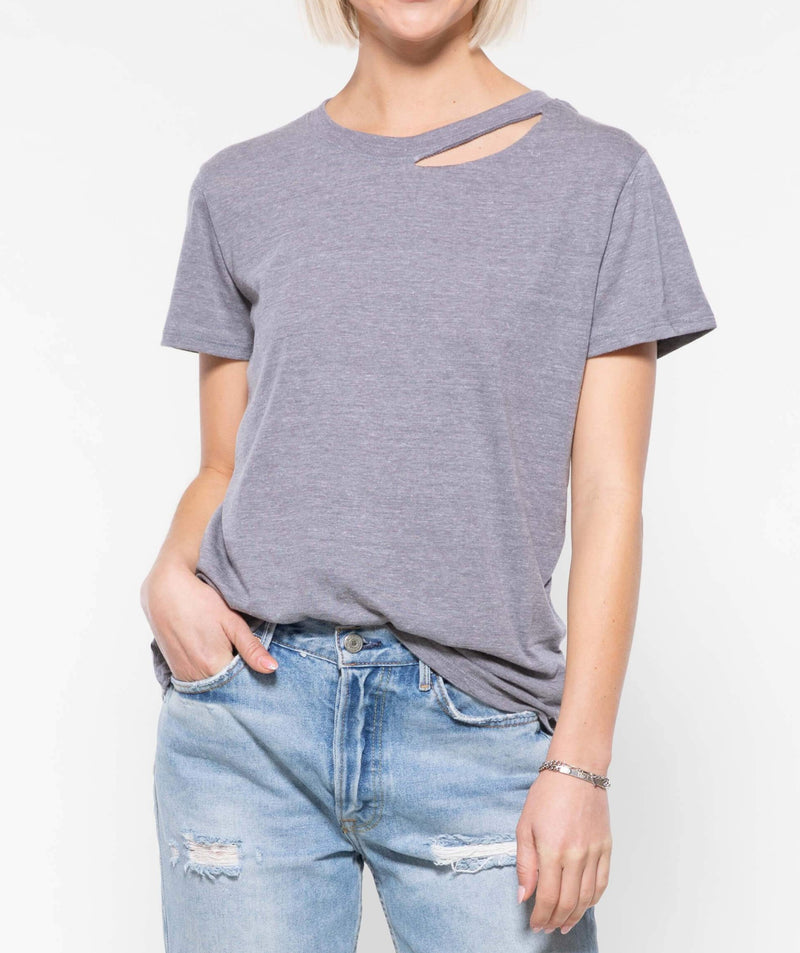 SUB_URBAN RIOT POPPY TEE HEATHER GRAY