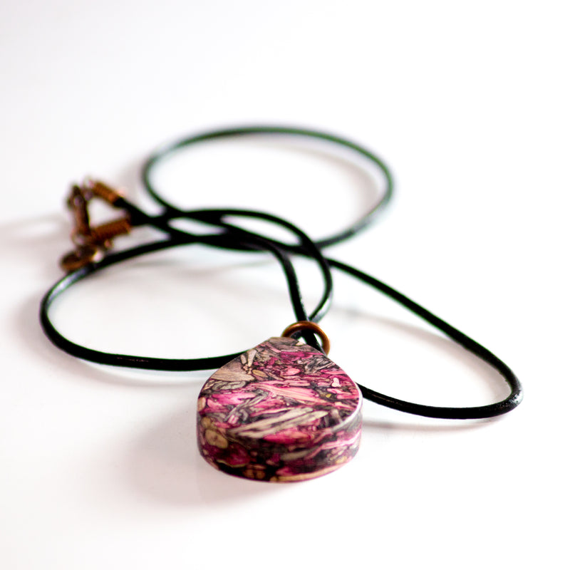Handcrafted from Tumbleweed - Rolled Leather Tumbleweed Necklace