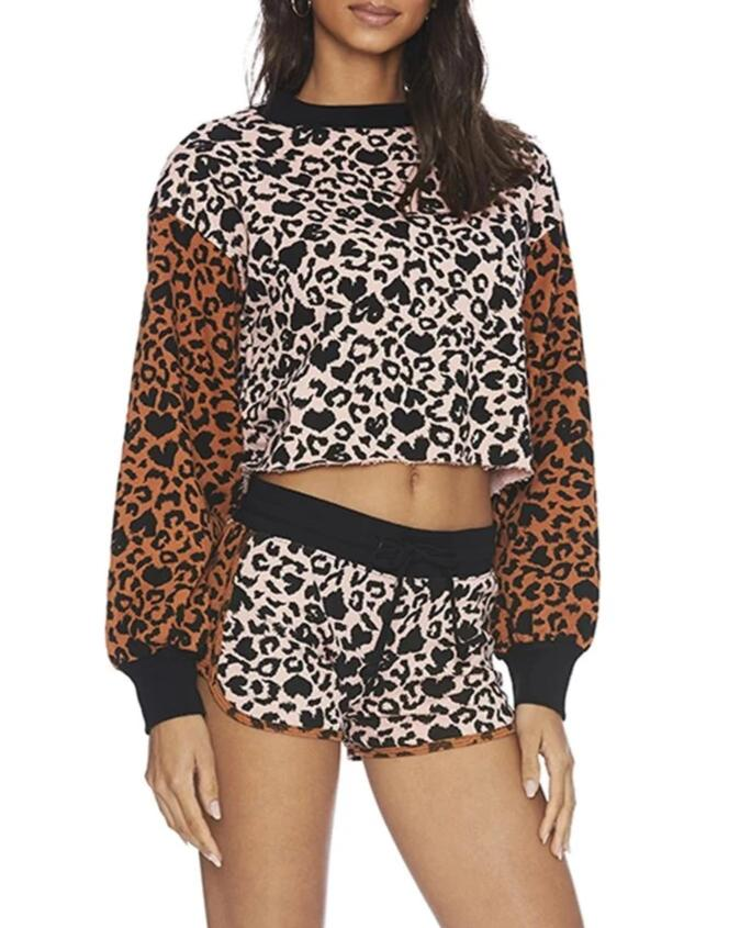 Beach Riot Love Leopard Ava Sweatshirt