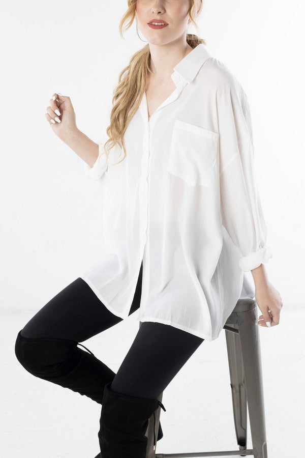 Blouse with Back Cutout