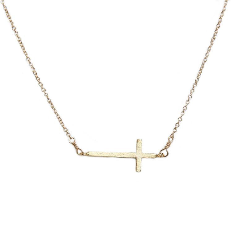 Adorn 512 - Side Cross Necklace