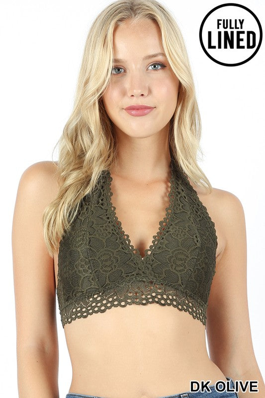 Lace Bralette with Back Closure