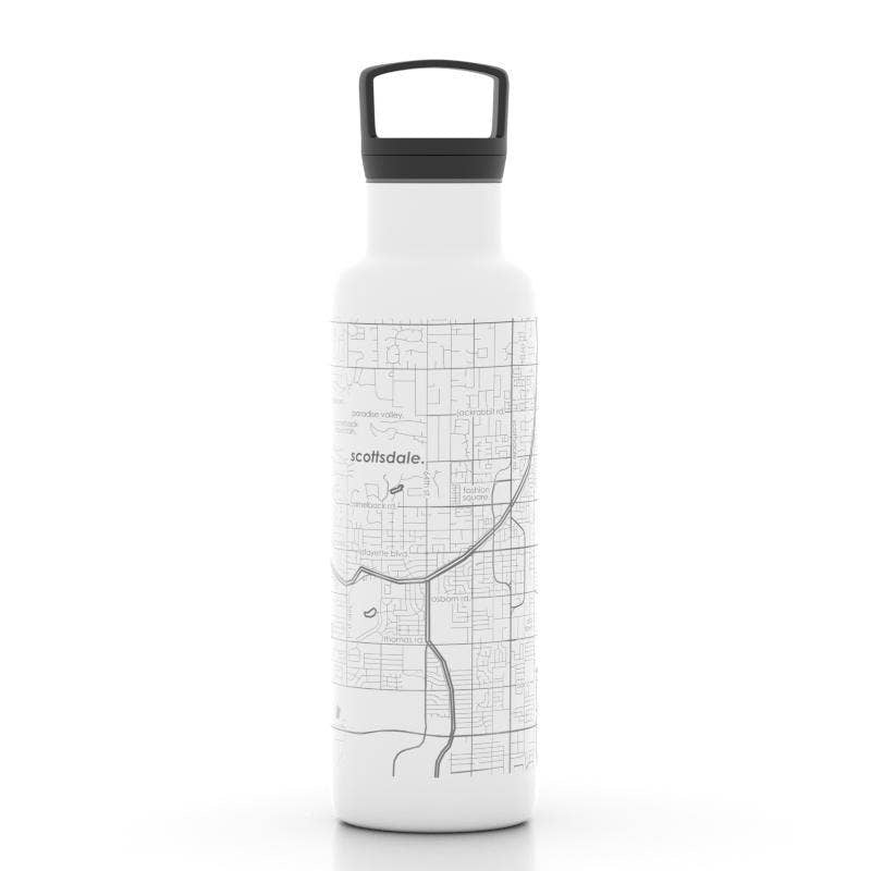 Well Told - Scottsdale AZ Map 21 oz Insulated Hydration Bottle
