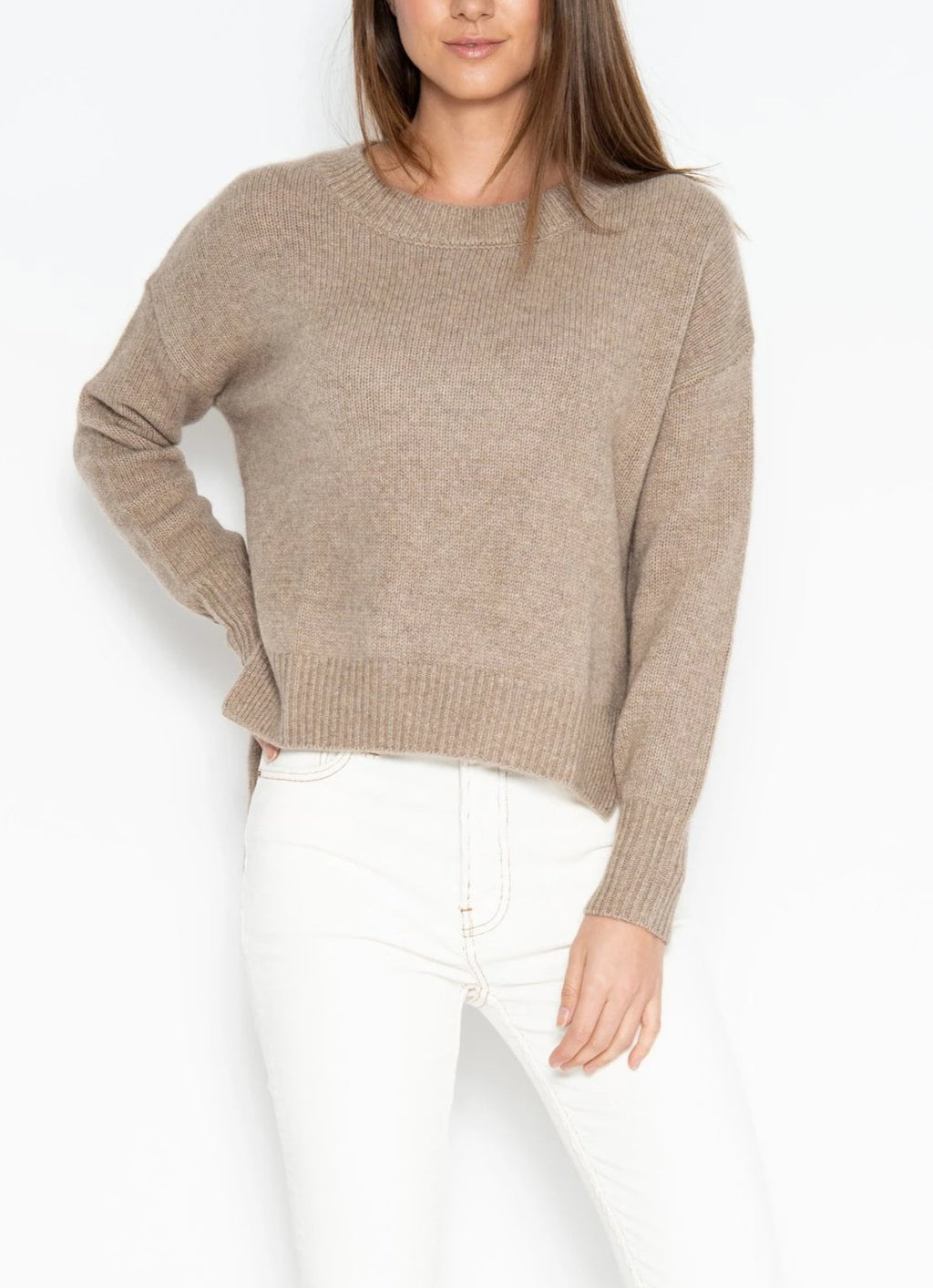 One Grey Day Lyle Cashmere Pullover