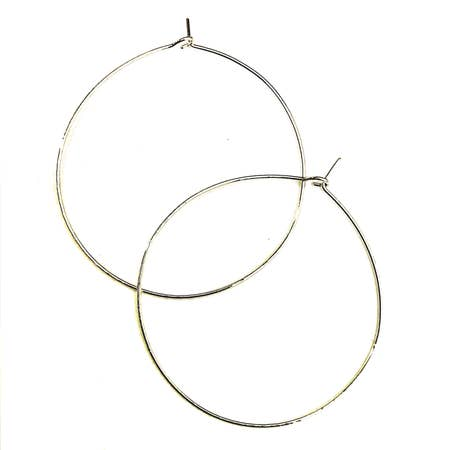 Adorn 512 - Classic Hoop Earrings -  Medium