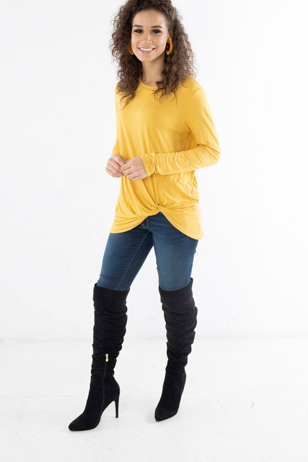 TUNIC TOP WITH KNOTTED FRONT