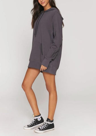 Spiritual Gangster Heart Weekend Sweatshirt Dress