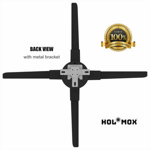 HOLOMOX 2019 NEW 19.6 INCH with 4 BLADES! 3D Hologram Advertising Display Fan, IOS Android WIFI Cloud Cluster, High Res, Hundreds of 3D Videos, Holographic projector ideal for any store.