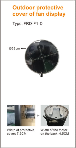 3D Hologram Fan Display - Outdoor Cover