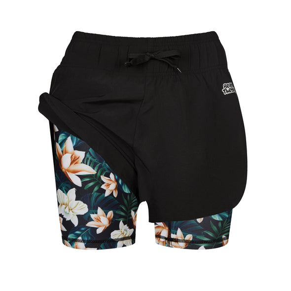 HONOLULU - 2 IN 1 Active Shorts Babes
