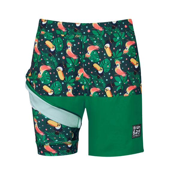 TOUCAN - 2 IN 1 Active Shorts Bros - BeanBagTheBrand