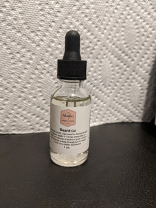 Beard Oil - All NATURAL - 1 oz