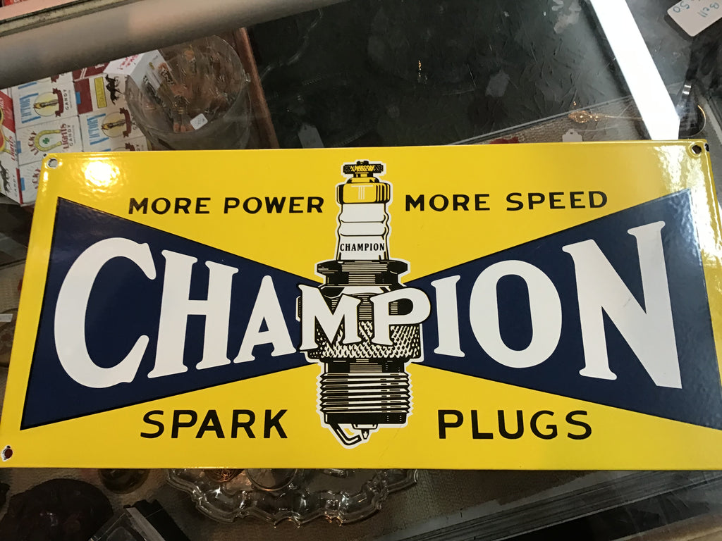 Champion Spark plugs Sign
