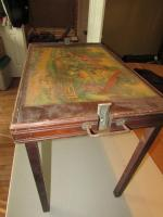 Antique lap tray with foldable legs