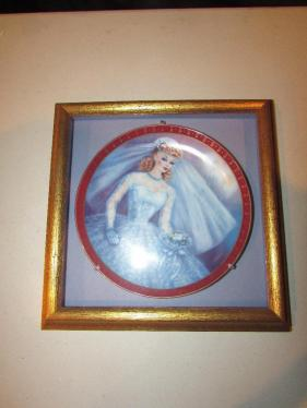 The Danbury Mint Barbie Bride-to-Be Porcelain Collector Plate-Framed