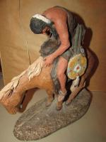 "End of the Trail - Daniel Monfort Sculptures  12"" high x 11"" wide x 3"" deep. 4# 7 oz."