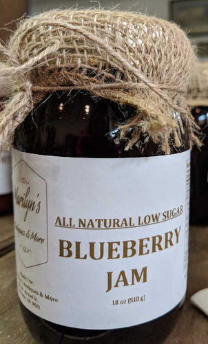 All Natural Low Sugar Blueberry Jam