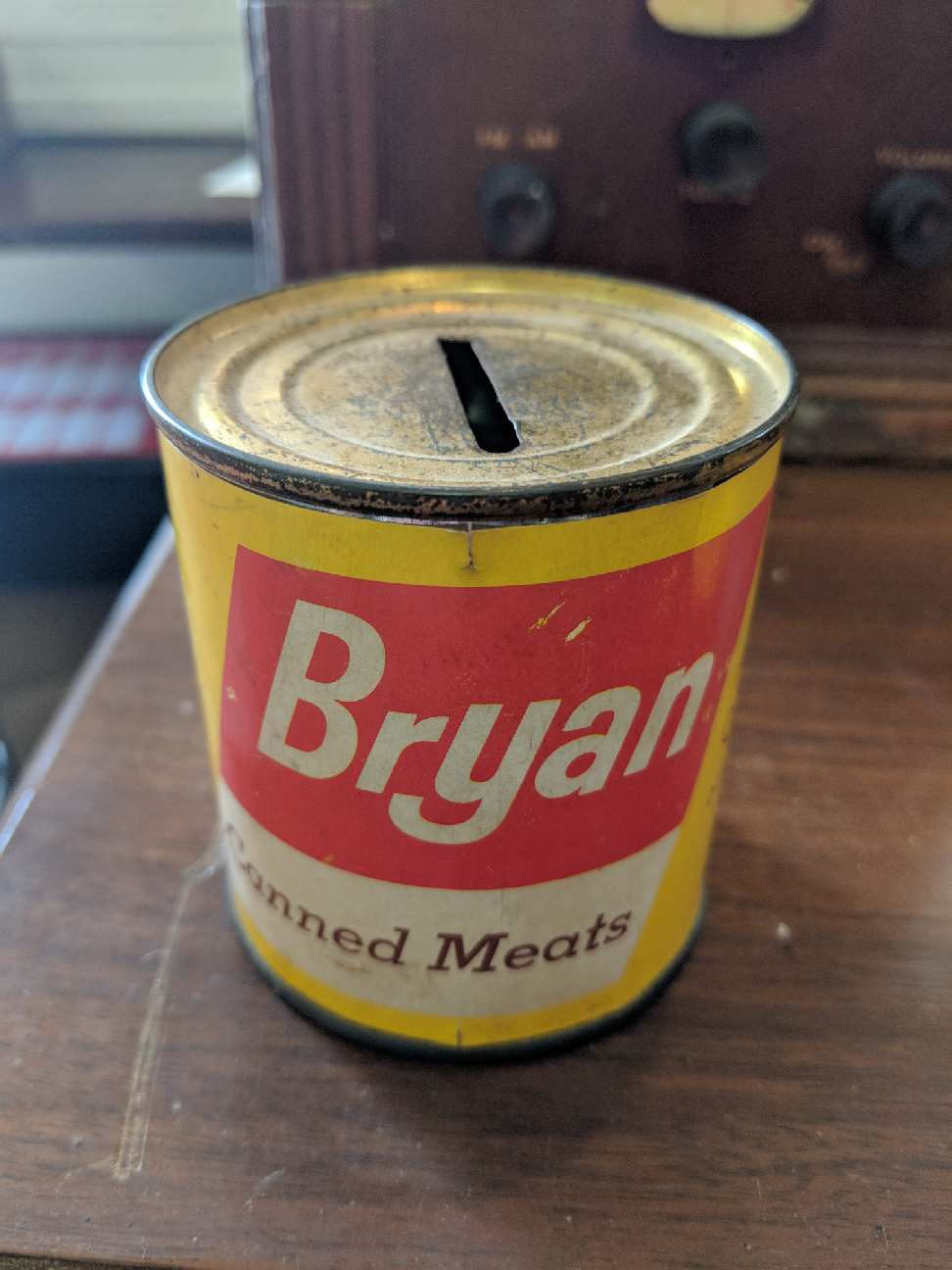 Bank - Bryan Canned Meats Bank from 1930's