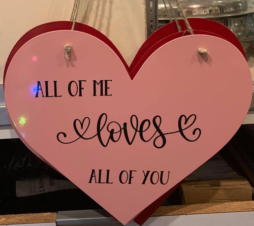 Pink Heart - All of Me Loves All of You