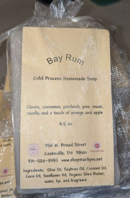 Bay Rum Homemade Cold Process Bar Soap