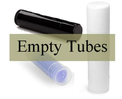 Empty lip balm tubes-10 each