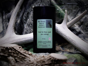 No Scent Natural Hunter's Deodorant