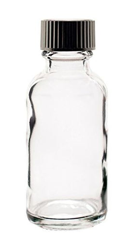 1 oz glass bottle with lid- pkg of 5