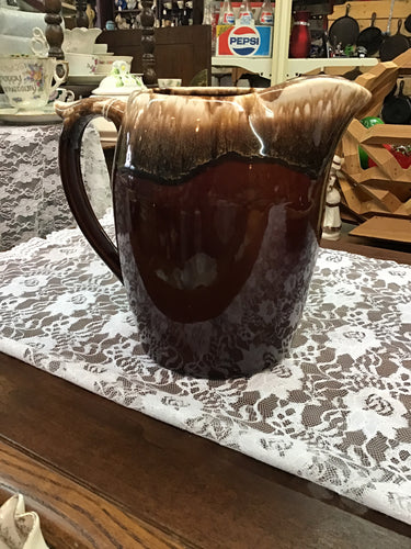 McCOY USA  BROWN-DRIP PITCHER