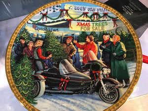 "Harley Davidson Collectors Plate ""Bringing Home The Tree"""