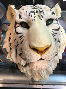 White Tiger Head Mount Figurine