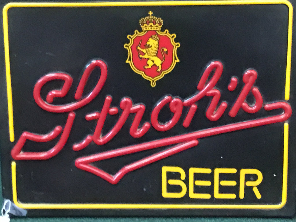 Stroh's Beer Lighted Sign