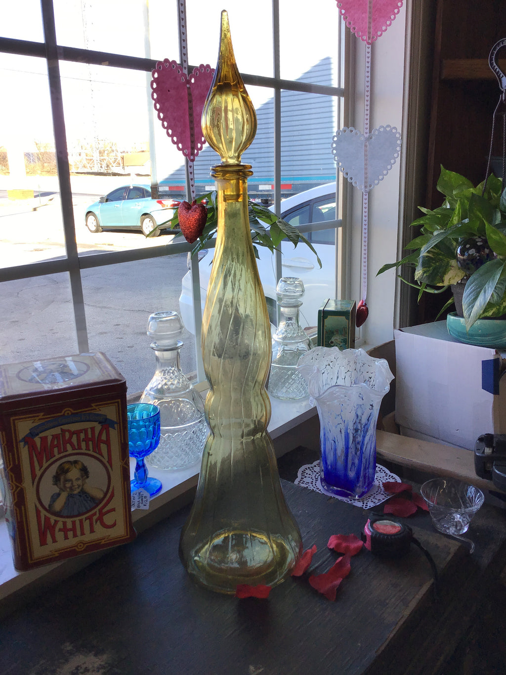 Vintage Topaz  Decanter