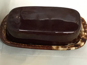McCOY USA  BROWN-DRIP  Butter Dish