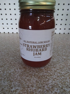 All Natural Low Sugar Strawberry Rhubarb Jam