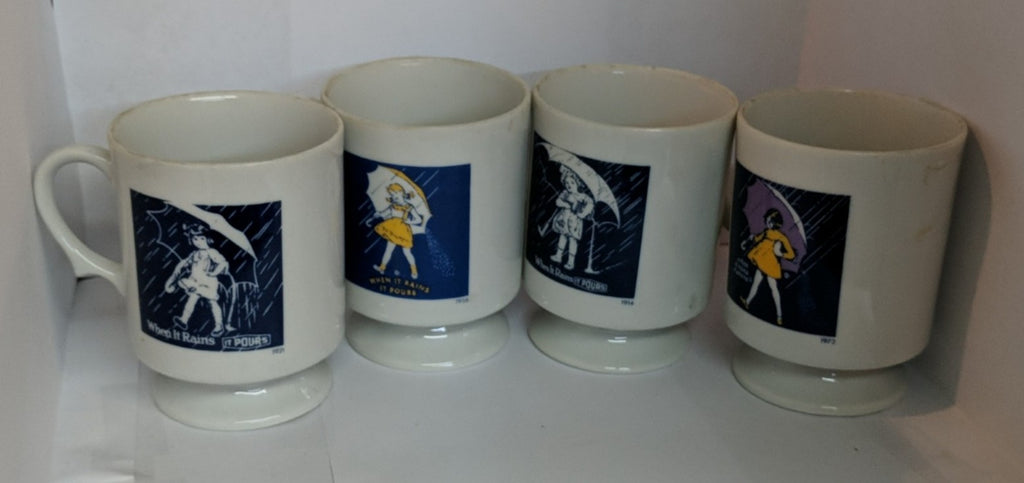 Vintage 1980 Morton Salt Ceramic Coffee Cup/Mug set