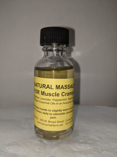 Cramp RELIEF!  An All Natural Massage Oil for Muscle Cramps