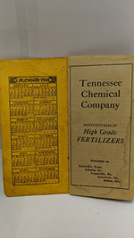 "Tennessee Chemical Company ""OX GUANO"" 1912 sales book"