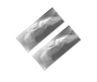 Silver Heat Seal Sample Packet - 2 inch x 4.75 inch - package of 10