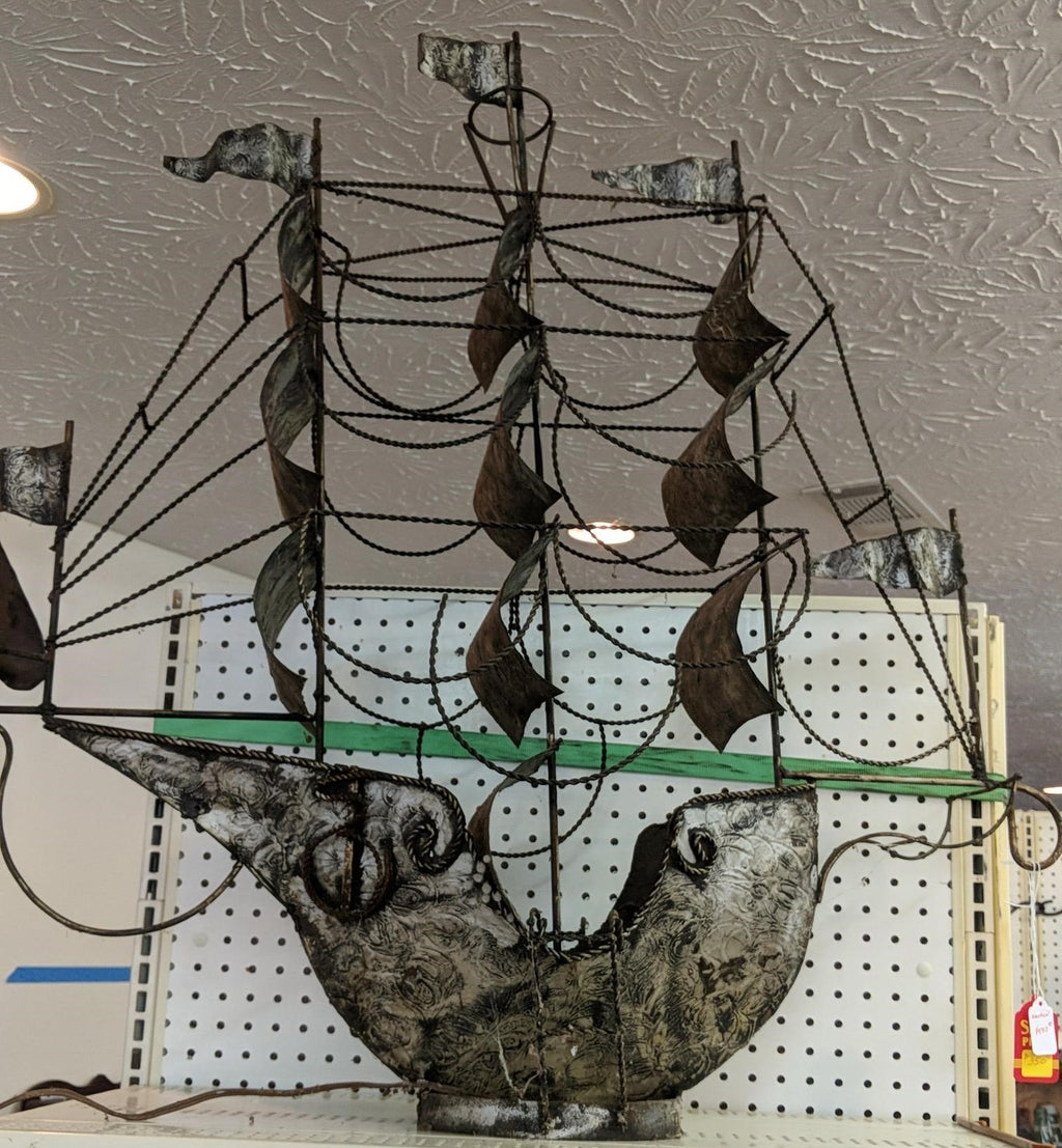 Metal Crafted Ship