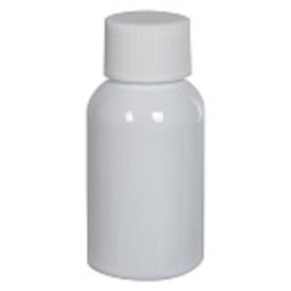1 oz plastic bottle with cap- pkg of 10