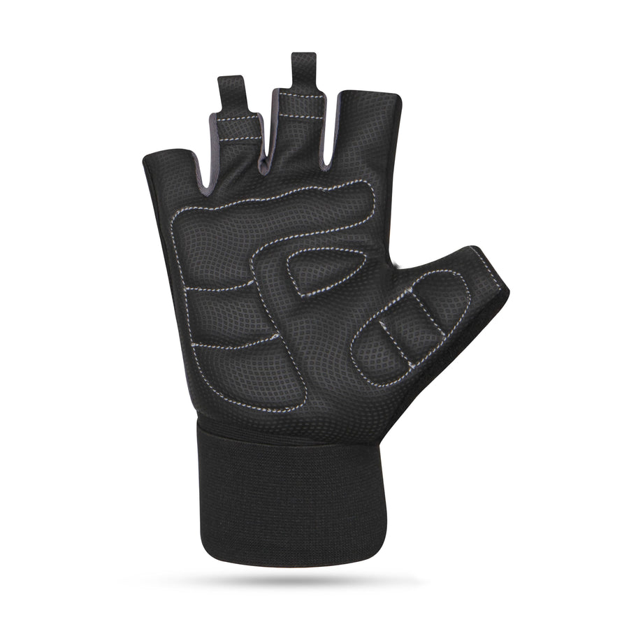 NIVIA Garnet Black Gym Gloves with Wrist Support