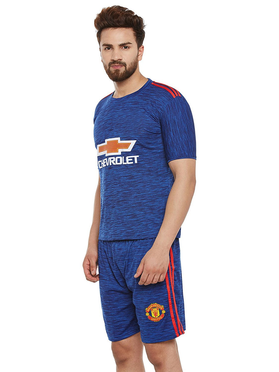 Sportigoo Unisex Manchester United Football Jersey - Atlantic Blue
