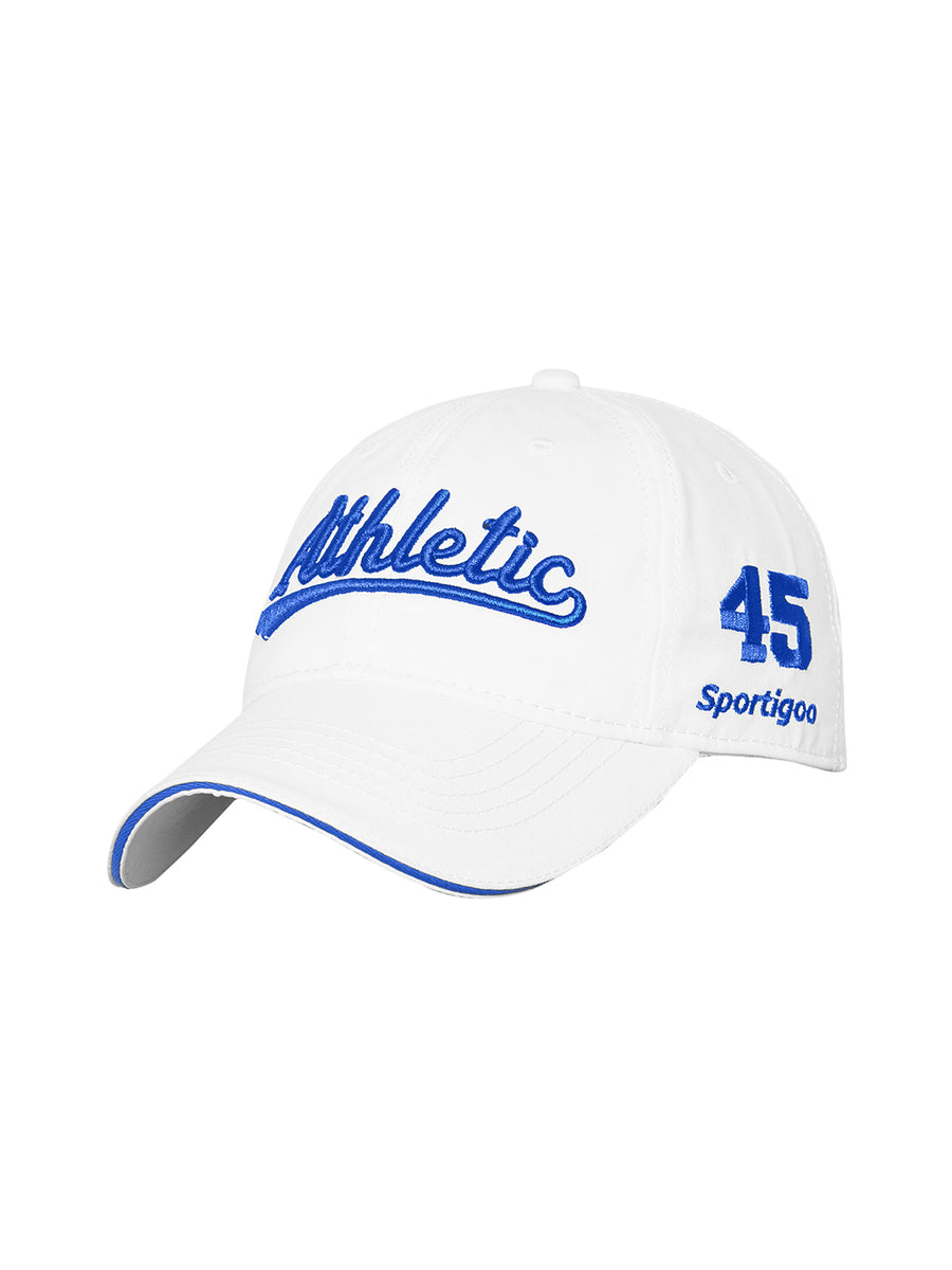 Sportigoo ATHLETIC Baseball Cap-White/Royal Blue 56 cm